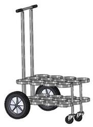 "Oxygen Cylinder Cart for 12 Jumbo D/M22 (5.25"" DIA) Oxygen Cylinder (1135-12)"