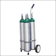 "Oxygen Cylinder Cart for Four Jumbo D/M22 (5.25"" DIA) Oxygen Cylinder (1135-4)"