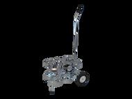 """Oxygen Cylinder Cart for Six Jumbo D/M22 (5.25"""" DIA) Oxygen Cylinder (1135-6)"""