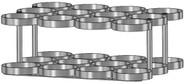 "Oxygen Cylinder Rack for 12 Jumbo D/M22 (5.25"" DIA) Oxygen Cylinder (1136-12)"