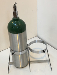 """Oxygen Cylinder Floor Stand for Two Jumbo D/M22 (5.25"""" DIA) Oxygen Cylinders (1136-2)"""