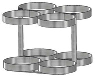"Oxygen Cylinder Rack for 4 Jumbo D/M22 (5.25"" DIA) Oxygen Cylinder (1136-4)"