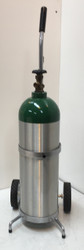 "Single Capacity Oxygen Cylinder Cart for One M60 (7.25"" DIA) Oxygen Cylinder (1140-1)"