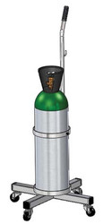 "Oxygen Cylinder Cart for One M60/90 (7.25"" DIA) Oxygen Cylinder (1140-ROLL)"