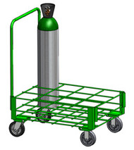 "Heavy Duty Oxygen Cylinder Cart for 12 MM (8.00"" DIA) Oxygen Cylinder (1142-12HD)"