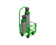 "Heavy Duty Oxygen Cylinder Cart for Four MM (8.00"" DIA) Oxygen Cylinder (1142-4HD)"