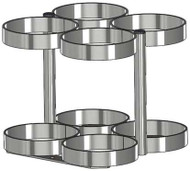 """Oxygen Cylinder Rack for Four MM (8.00"""" DIA) Oxygen Cylinders (1143-4)"""