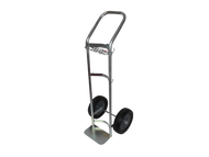 "Stainless Steel Hand Truck/ Dollie for One H or T (9.25"" DIA) Cylinder (1190SS)"