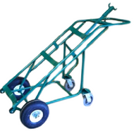 Liquid Oxygen Cart With Rear Mounted Stabilizer For One Dewar Cylinder (1237)