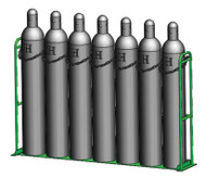 """Vertical Warehouse Rack for Four M250, H or T (9 .25"""" DIA) Cylinders (1239-1X4)"""