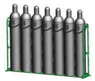 """Vertical Warehouse Rack for Five M250, H or T (9 .25"""" DIA) Cylinders (1239-1X5)"""
