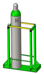 "Oxygen Cylinder Pallet Rack Holds Two H or T (9.25"") Style Cylinders (1243-2)"