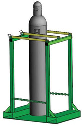 "Oxygen Cylinder Pallet Rack Holds Four H or T (9.25"") Style Cylinders (1243-4)"