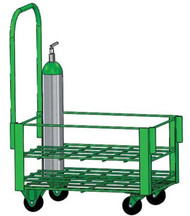 "Heavy Duty Oxygen Cylinder Cart Holds 24 M6 (3.20""DIA) Oxygen Cylinders (2080HD)"