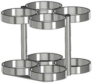 """Oxygen Cylinder Rack for Four ML6 (4.38"""" DIA) Oxygen Cylinders (4085)"""