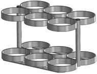 """Oxygen Cylinder Rack for Six ML6 (4.38"""" DIA) Style Oxygen Cylinders (4095)"""