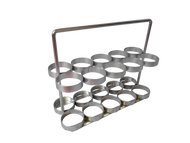 """Oxygen Cylinder Rack with Handle for Six ML6 (4.38"""" DIA) Style Oxygen Cylinders (4096)"""