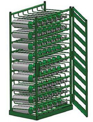 Layered Horizontal Rack with Door for 21 M6 Cylinders (6508D)