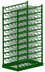 Layered Horizontal Rack for 70 M6 Cylinders (6520-70)