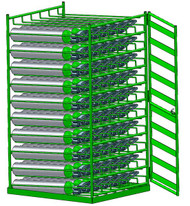Layered Horizontal Grab 'n Go Rack with Door for 60 D/E Cylinders (6541GGD)