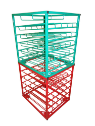 Layered Horizontal Stacking Rack with Door for 25 D/E Cylinders (6544D)