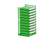 Layered Horizontal Rack for 50 M22 Cylinders (6550)