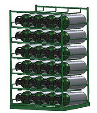 Layered Horizontal Rack for 18 M60 Cylinders (6570-18)