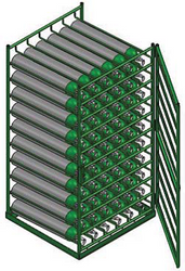 Layered Horizontal Rack for 81 D Cylinders (6592D)