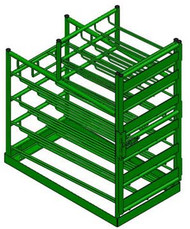 Layered Multi Cylinder Rack for 12 D/E and Eight M6 Cylinders (6601D)