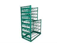 Layered Multi Cylinder Rack with Door for 15 D/E and Eight M6 Cylinders (6607D)