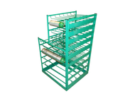 Layered Multi Cylinder Rack with Door for 25 D/E and 28 M6 Cylinders (6620D)