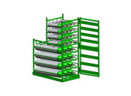 Layered Multi Cylinder Rack with Door for 35 D/E and 21 M6 Cylinders (6648D)