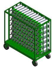 "Oxygen Cylinder Transport Cart for 156 M6 (3.20"" DIA) Cylinders (9025)"