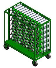 "Oxygen Cylinder Transport Cart for 156 M6 (3.20"" DIA) Cylinders (9025)"