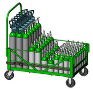 Bulk Cylinder Cart for 60 D, E, M7 or ML6 Cylinders (9028)