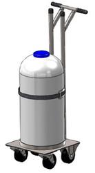 Stainless Steel Nitrogen Cylinder Liquid Dewar Cart (9029-10SS)