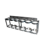 """Inline Oxygen Cylinder Wall Mount Rack for Six D/E (4.38"""" DIA) Cylinders (7503-6)"""