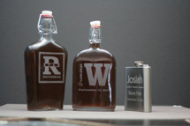 Engraved Groomsmen Gift Custom Large Glass Flask
