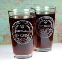 Engraved Pint Glasses | Custom Engraved | Home Brewing | Personalized Pints
