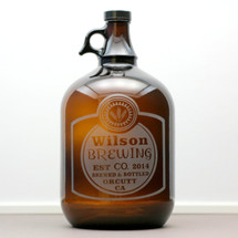 Engraved Gallon Growler with Classy Home Brew Label