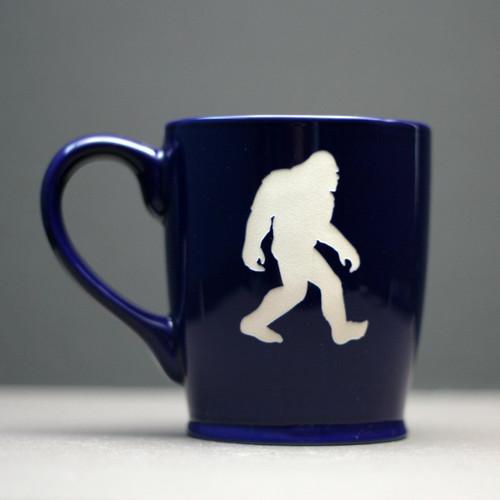 Engraved Ceramic Coffee Mug|Engraved Bigfoot Mug|Etched Bigfoot|Bigfoot Gift|Sasquatch Gift|Engraved Glassware|Etched Glassware|Glass Blasted|Custom Glassware|Personalized Glassware