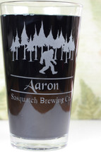 Engraved Personalized Sasquatch Big Foot Brewing Co |Engraved Gift|Personalized Gift|Etched Gift|Engraved Glassware|Custom Gift|Etched Glassware|Custom Glassware|Personalized Glassware|Personalized Promotional Products|Glass Blasted