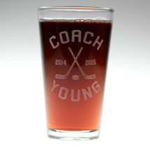 Hockey Coach Personalized Pint Glass | Coach Gift