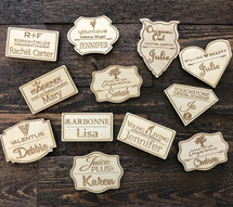 Name Tag Laser Engraved on Wood - Direct sales, MLM, LulaRoe,Lemongrass Spa,LegalShield,Primerica,Arbonne