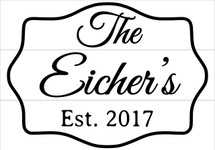 Custom listing for Kimberly - Eichers sign