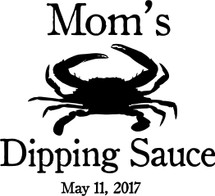 Custom listing for Dave - 6 32oz flip top growlers with Mom's Dipping Sauce art