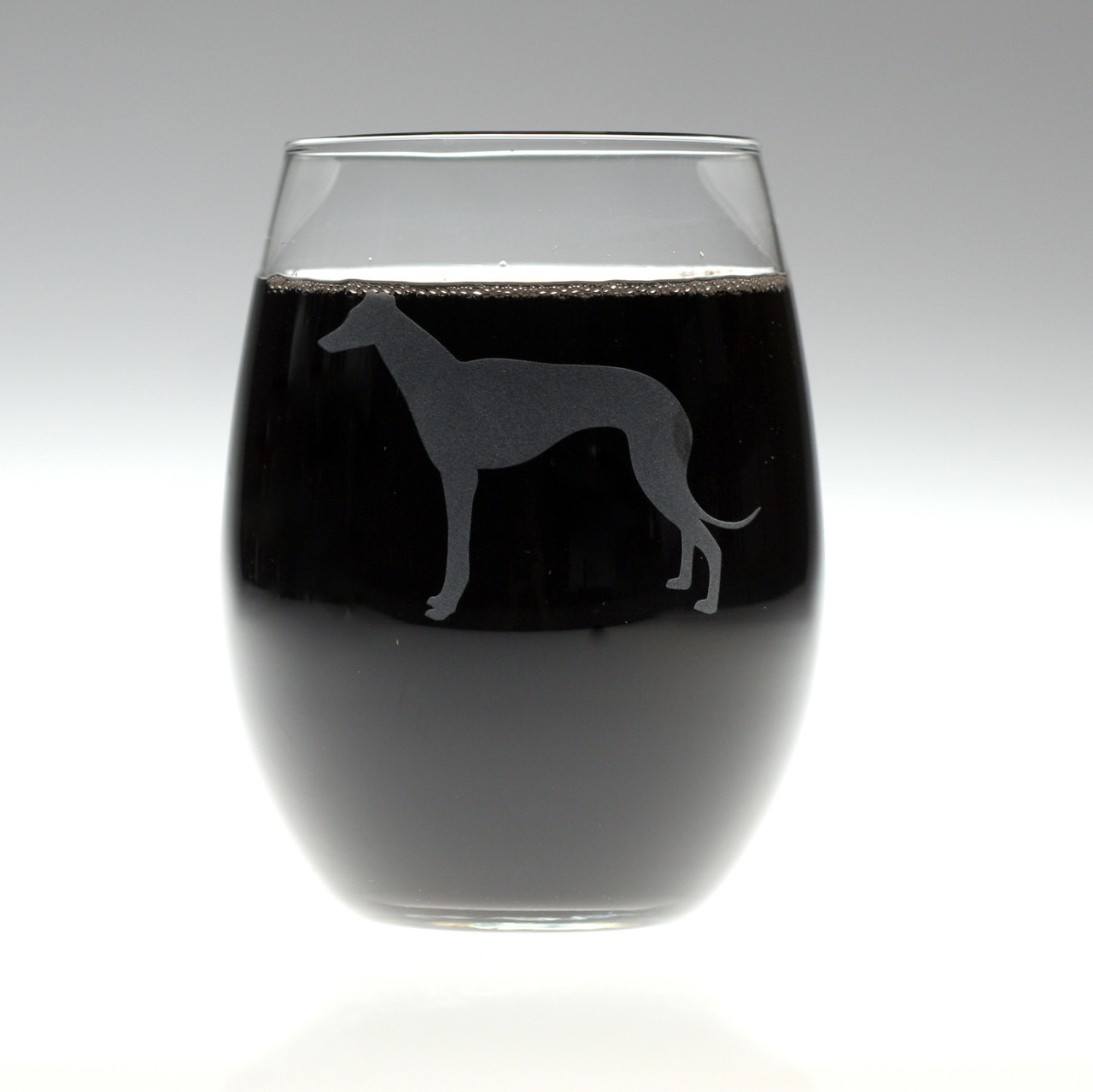 668351a5f16 Greyhound Dog Engraved Wine Glass. Price: $18.00. Image 1