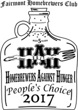 Custom listing for Rob - stainless pint with HB against hunger art