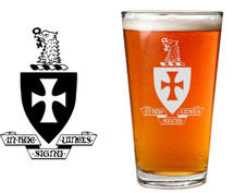 Custom listing for Brennan - 5 pints with Sigma Chi crest