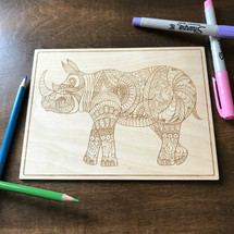 Rhino  wood coloring panel